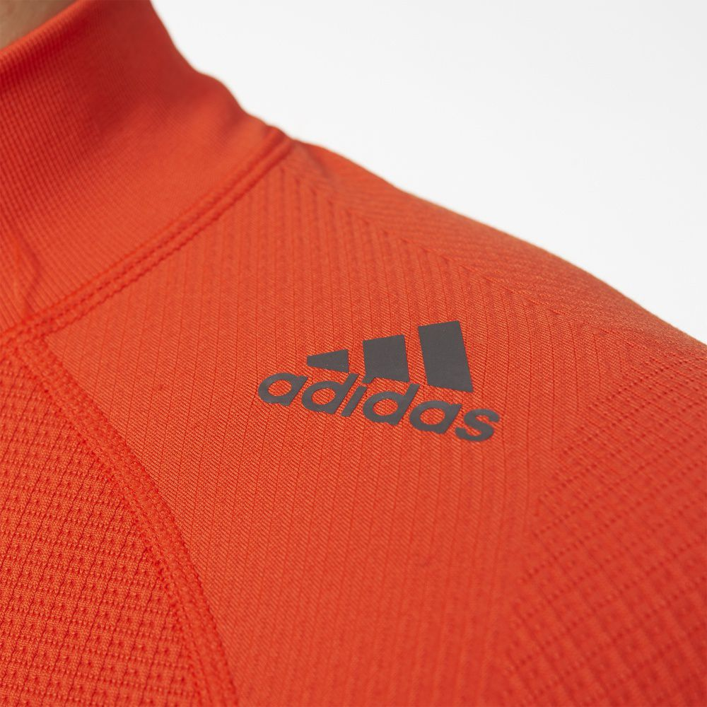 Adidas Koszulka Techfit Heat Long Sleeve Mock pomaranczowa r. M (AY3765) AY3765