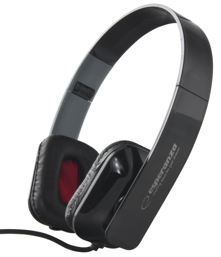 ESPERANZA Audio Stereo Headphones with volume control EH143K | 3m austiņas