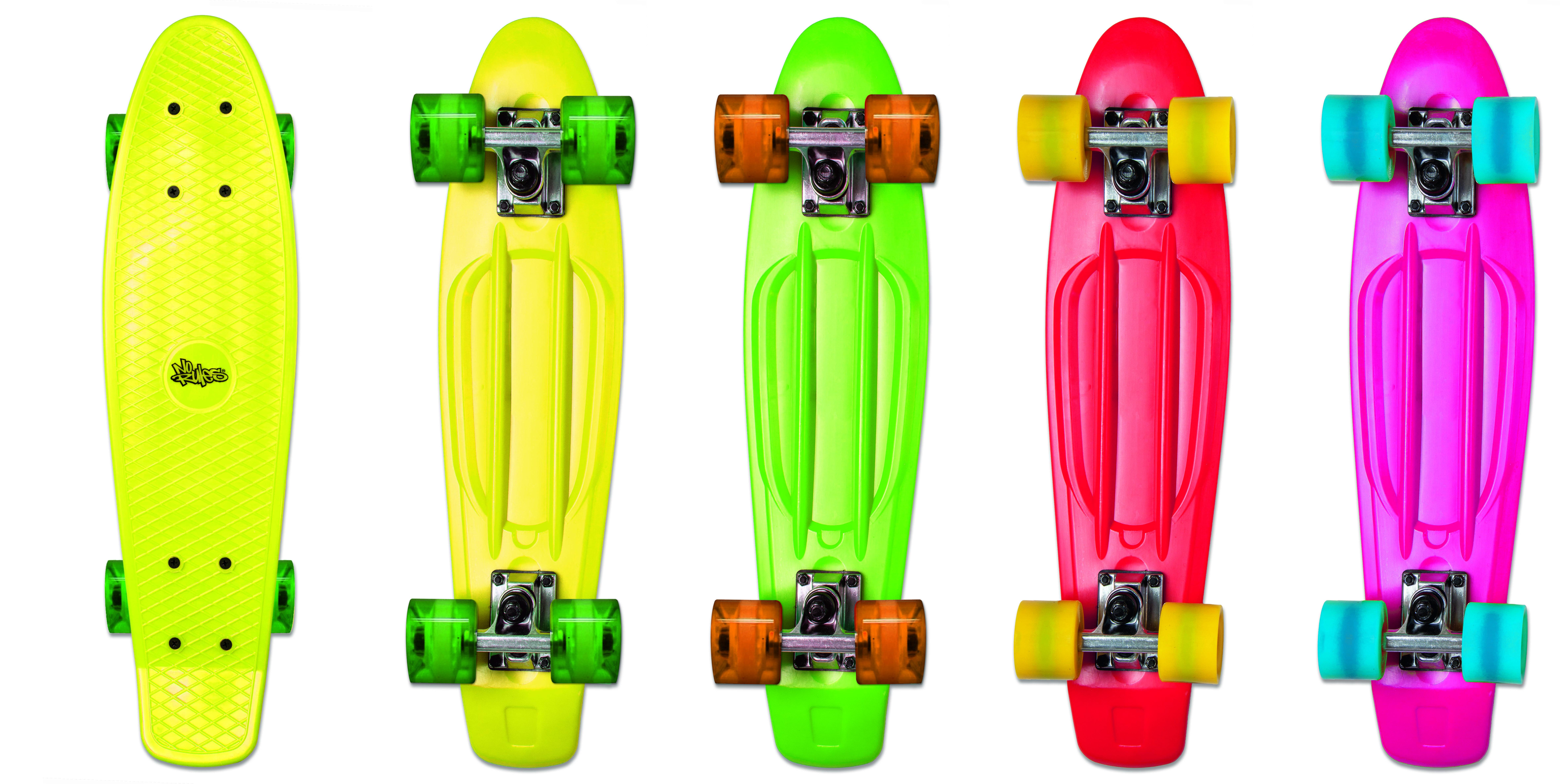 No Rules Skateboard fun skrituļdēlis (zaļš, sarkans, dzeltens vai roz ) AU 294 Skrejriteņi