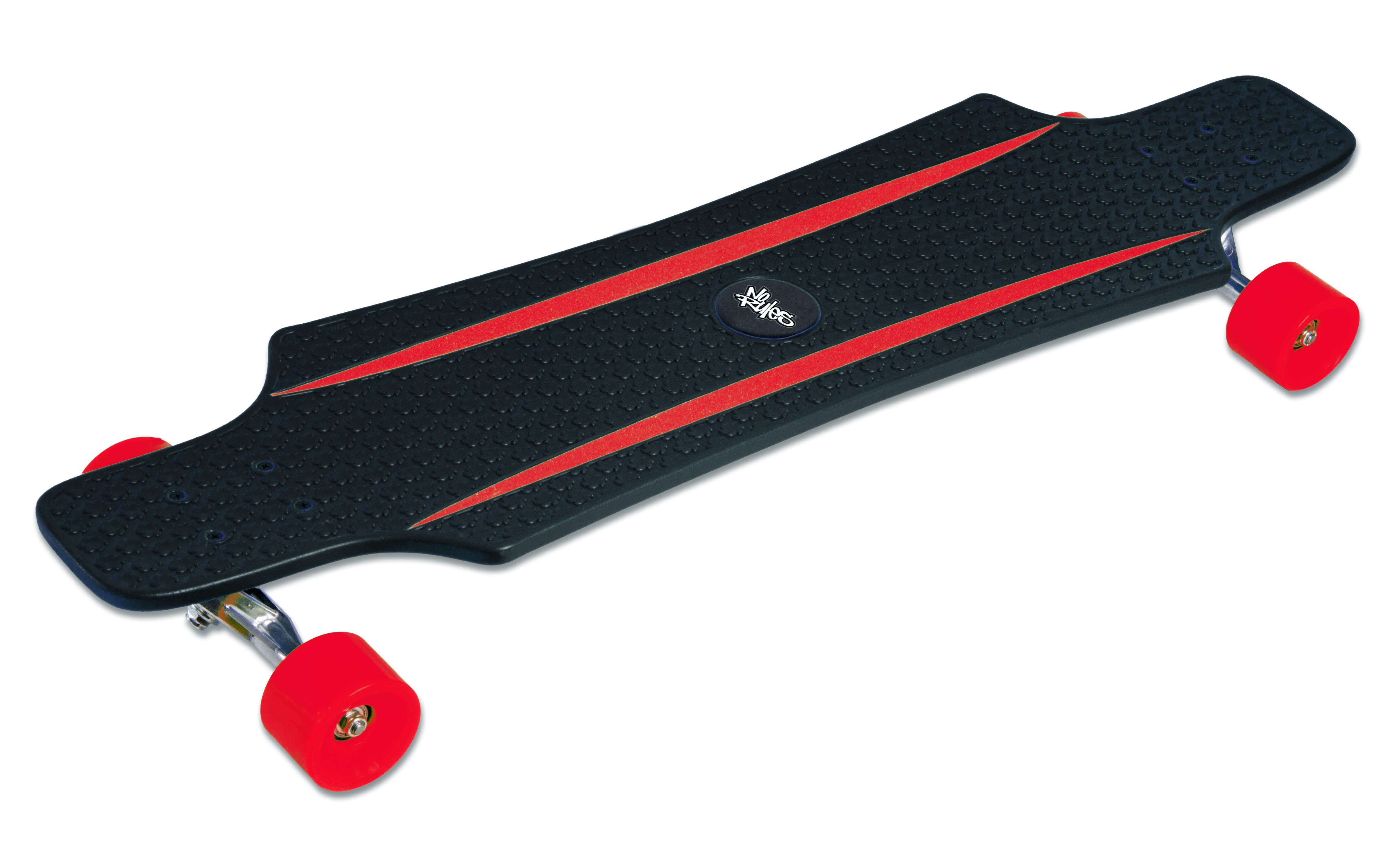 No Rules PP-FLEX Longboard skrituļdēlis, ABEC 7 (melns/sarkans, zils/zaļš) AU 245 Skrejriteņi