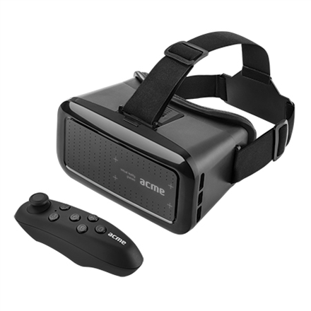 Acme VRB01RC Black, Virtual Reality Glasses, Compatible with smartphones from 4 to 6 display aksesuārs mobilajiem telefoniem
