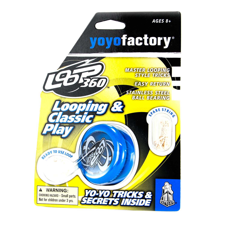 YoYoFactory YO-YO LOOP 360 rotaļlieta ies cējiem ar iemaņ m, zils YO 122 bērnu rotaļlieta