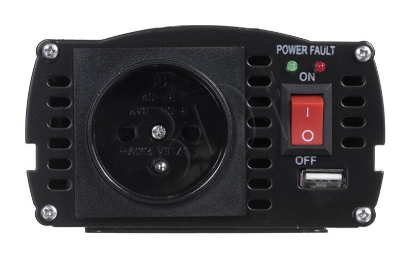 VOLT POLSKA POWER INVERTER IPS 500 24/230V USB 2A Strāvas pārveidotājs, Power Inverter