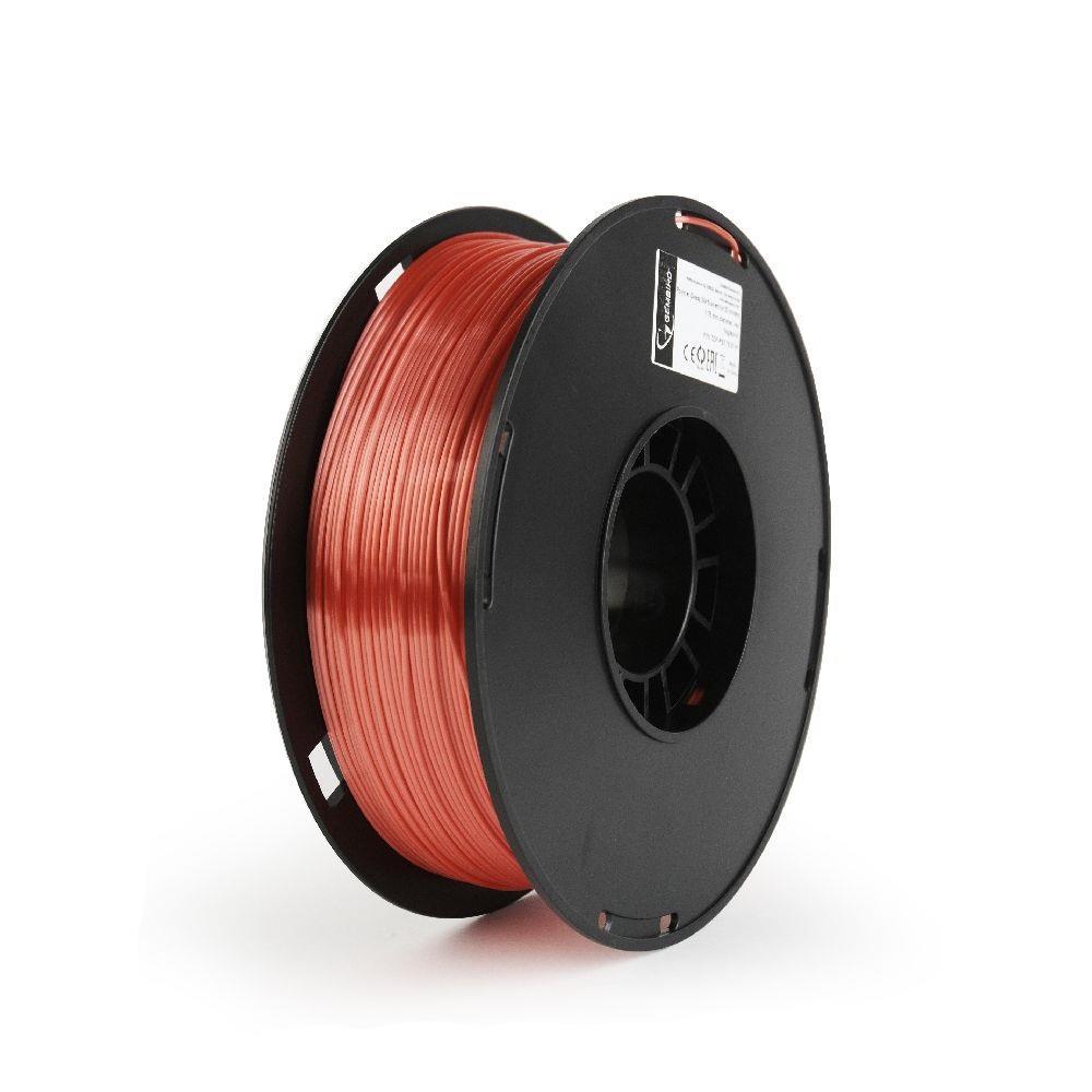 Filament Gembird POLYMER GLOSSY Silk Red   1,75mm   1kg 3D printēšanas materiāls