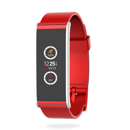 MyKronoz Smartwatch  Zefit4  80 mAh, Touchscreen, Bluetooth, Red/ silver, Activity tracker with smart notifications, Viedais pulkstenis, smartwatch