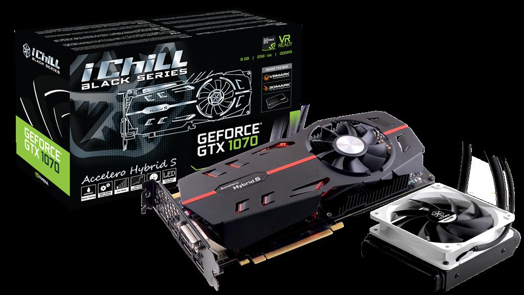 Inno3D iChill GeForce GTX 1070 Black, 8GB GDDR5 (256 Bit), HDMI, DVI, 3xDP video karte