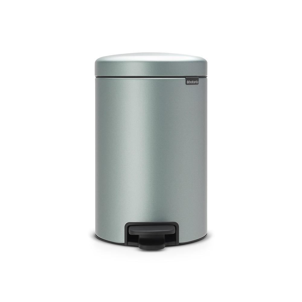 BRABANTIA atkritumu tvertne ar pedāli NewIcon, 12 l, Metallic Mint 113765 atkritumu tvertne