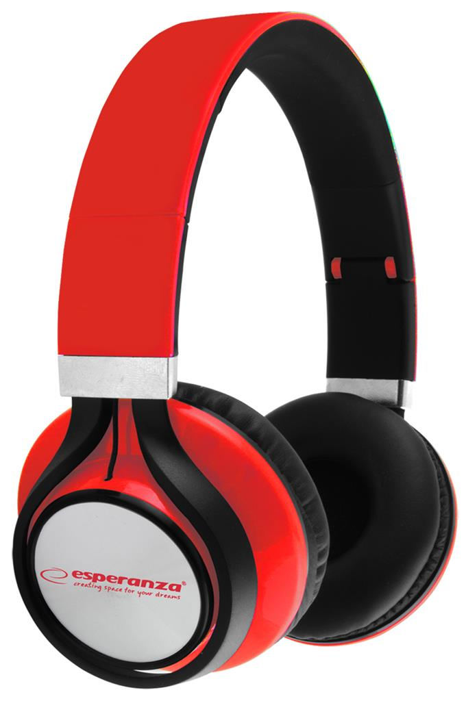 ESPERANZA EH159R FREESTYLE Audio Stereo Headphones with volume control   | 2m austiņas