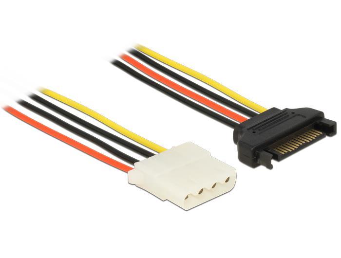 Delock Power Cable SATA 15 pin male > 4 pin female 70 cm kabelis datoram