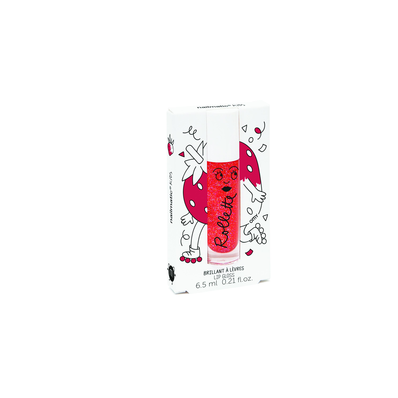 Nailmatic Kids Dabīgs un mitrinošs bērnu lūpu spīdums ar vitamīniem un augļu garšu, Strawberry, 6,5 ml ROLLFRAISE Bērnu smaržas
