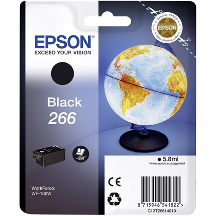 Ink Epson Black 266 cartridge | WorkForce WF-100W kārtridžs