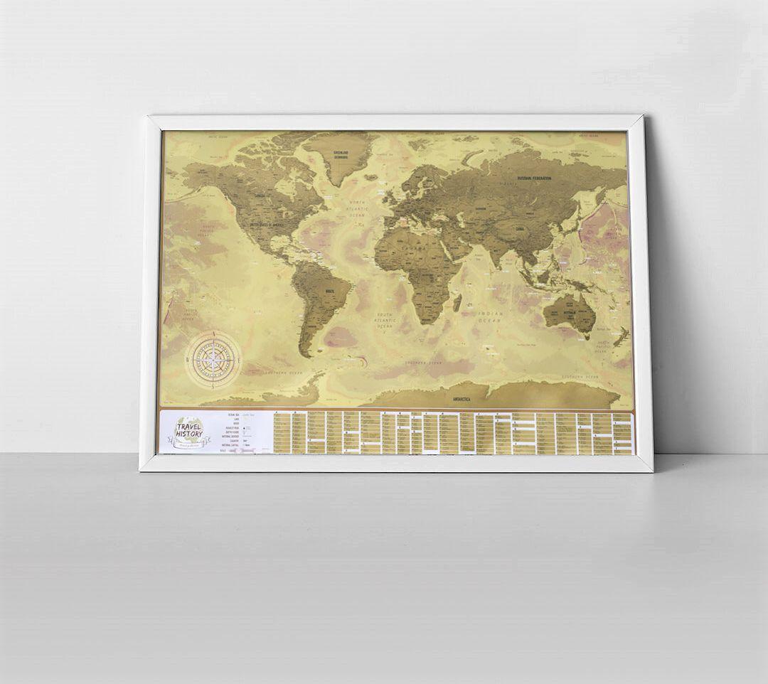 Mapa zdrapka