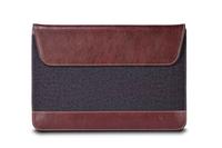 Maroo Woodland PU LTH/Wool Sleeve Surface 3 Black And Bordeaux planšetdatora soma