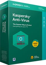 KASPERSKY Anti-Virus base 1PC/1Year programmatūra