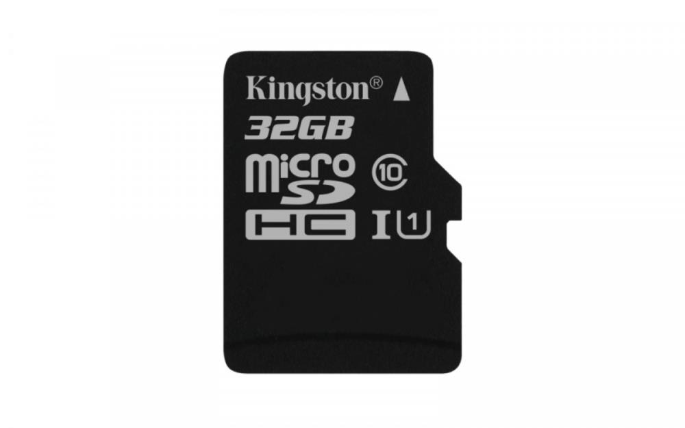 Kingston 32GB microSDHC Canvas Select 80R CL10 UHS-I Single Pack w/o Adapter atmiņas karte