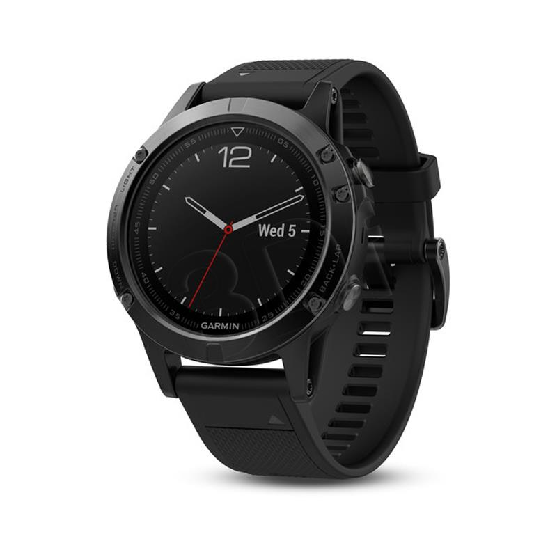 Garmin fenix 5 Sapphire - Black with black band sporta pulkstenis