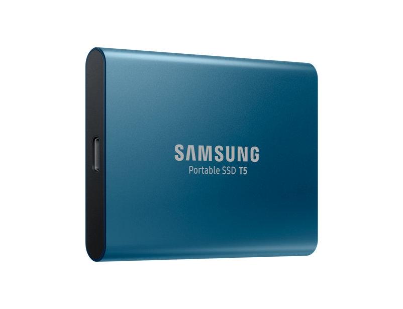 Samsung T5 500 GB, USB 3.1, Blue, Portable SSD Ārējais cietais disks