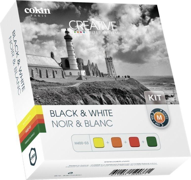 Cokin H400-03 Black & White Kit inkl. 4 Filter foto objektīvu blende