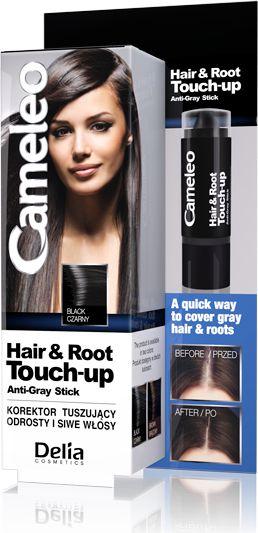 Delia Cameleo Hair&Root Touch-up Korektor tuszujacy odrosty i siwe wlosy czarny 1szt 716063
