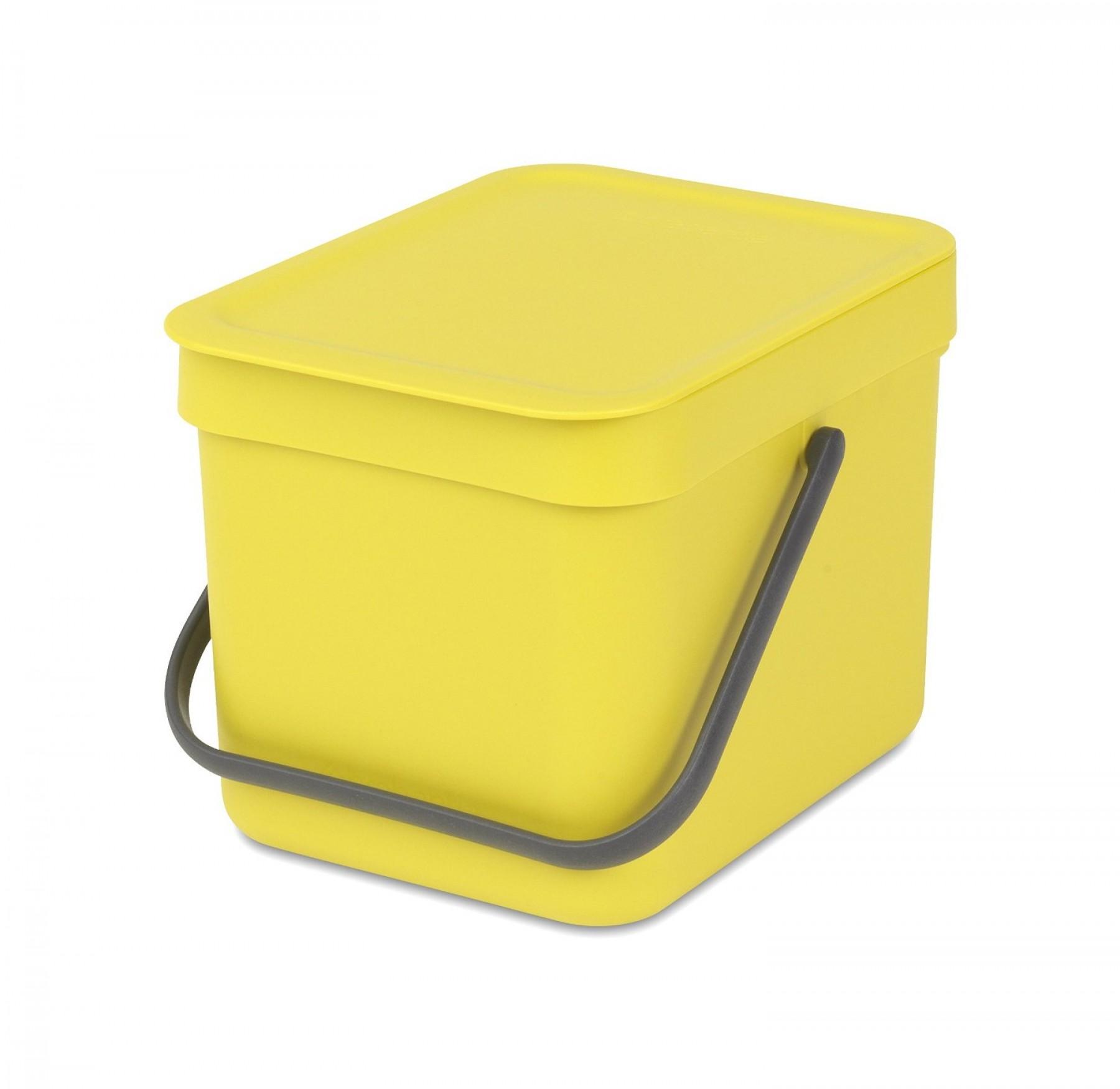 BRABANTIA atkritumu tvertne Sort & Go, 6 l, yellow 109683 atkritumu tvertne