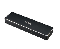 Akasa Dual 4K Thunderbolt 3 Dock and charge station with power delivery dock stacijas HDD adapteri