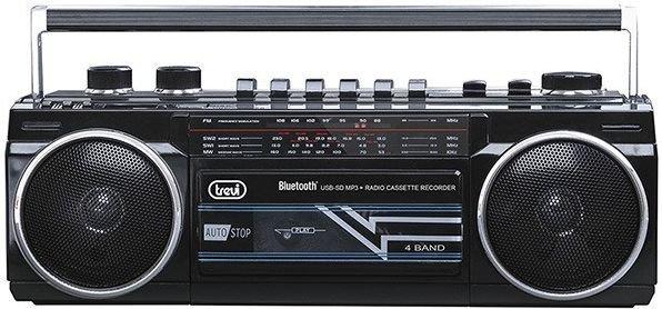 BOOMBOX TREVI RR501 BL/USB/SD BLACK mūzikas centrs