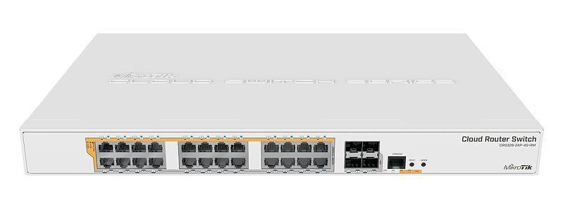 MikroTik CRS328-24P-4S+RM Gigabit Ethernet POE/POE+ router/switch PoE/Poe+ ports quantity 24, Power supply type Single, Rack mountable, 4x S WiFi Rūteris