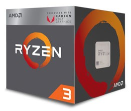 AMD Ryzen 5 3400G, 4C/8T, 4.2 GHz, 6 MB, AM4, 65W, 12nm, BOX CPU, procesors