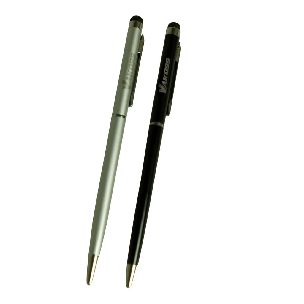 VAKOSS Capacitive stylus with pen 2in1  SB-367  2-pack silver/black Planšetes aksesuāri