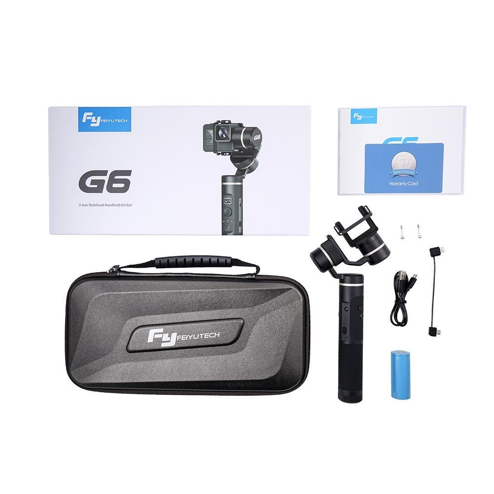 Feiyu G6 3-Axis Handheld Gimbal Stabilizer for action camera's incl. GoPro Hero Sporta kameru aksesuāri