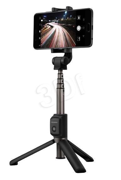 Huawei AF15 2in1 Universāls Selfie Stick + Tripod Statnis ar Bluetooth Tālvadības pulti Melns Selfie Stick
