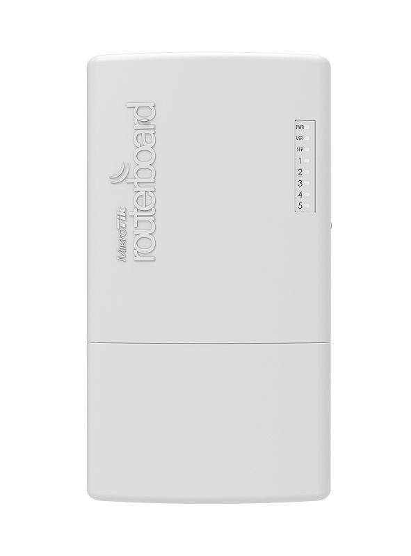 MikroTik PowerBox Pro L4 128MB RAM, 5xGig LAN, 1xSFP, 1xUSB, port 2-5 802.3af/at WiFi Rūteris