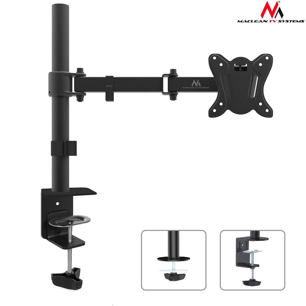 Maclean MC-690N Universal Monitor Bracket 360 Adjustable Arm 13-27 inches