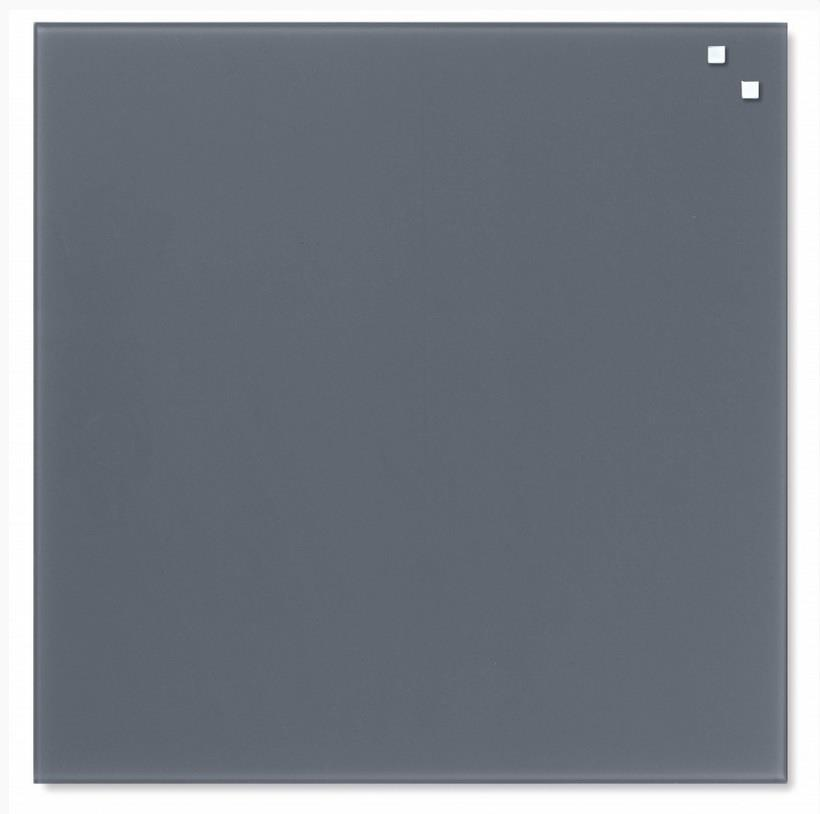 NAGA Glass magnetic board gray 45x45cm (10710)
