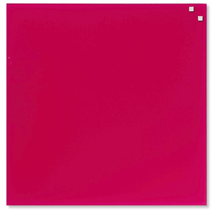 NAGA Magnetic glass board 45x45 cm pink 10721