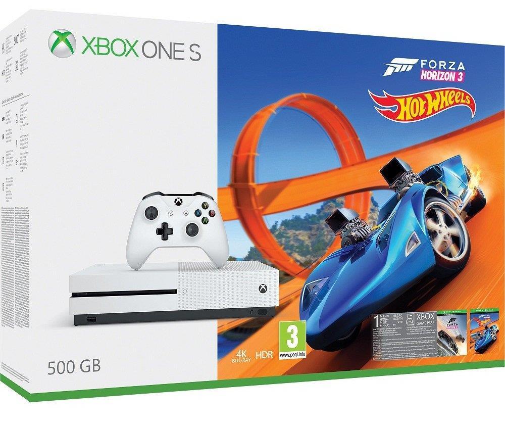 Microsoft Xbox One S 500GB + Forza Horizon 3 + Hot Wheels spēļu konsole