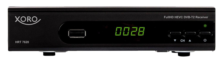 Xoro HRT 7620 HEVC DVBT/T2 Receiver uztvērējs