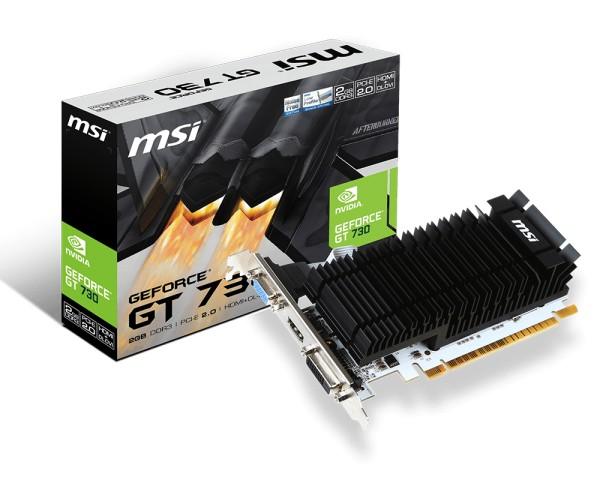 MSI GeForce GT 730, 2GB DDR3 (64 Bit), HDMI, DVI, D-Sub video karte