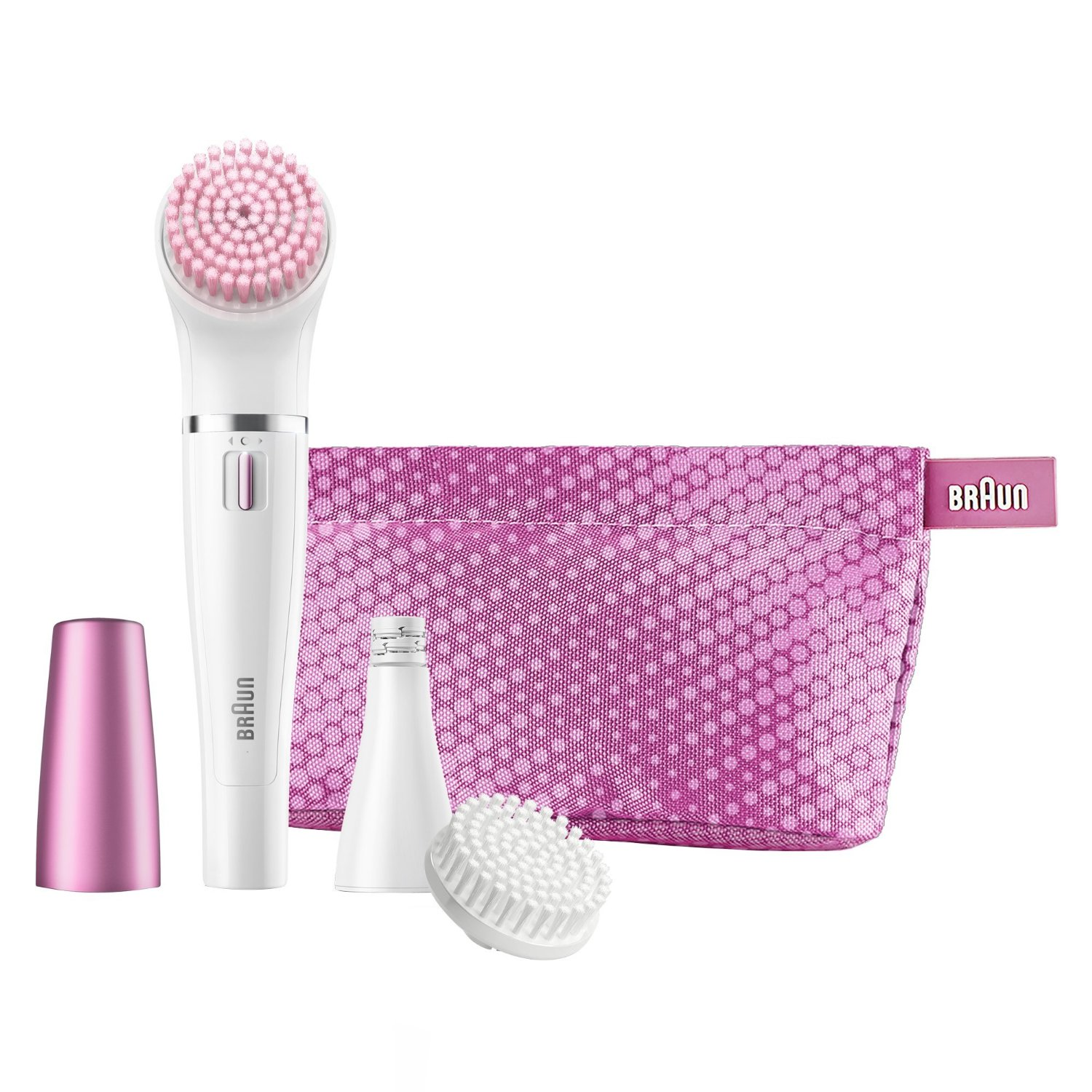 Braun Face Epilator and facial cleansing brush  SE832S Number of intensity levels 1, White/ pink Epilators