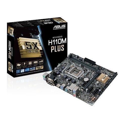 ASUS H110M-PLUS LGA1151 microATX pamatplate, mātesplate