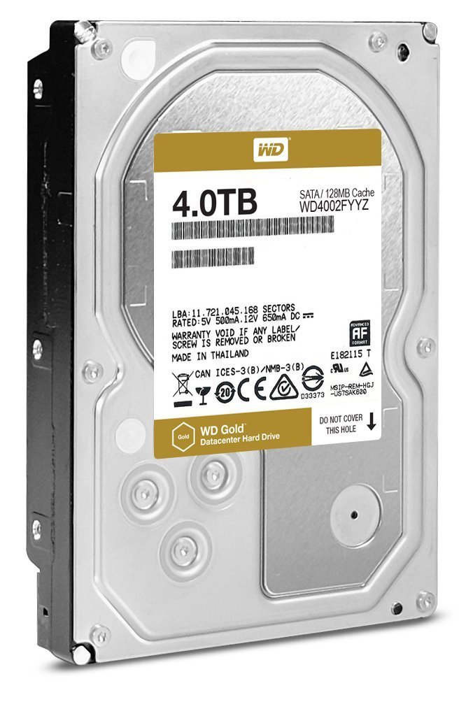 Server HDD WD RE 3.5'' 4TB SATA3 7200RPM 128MB cietais disks