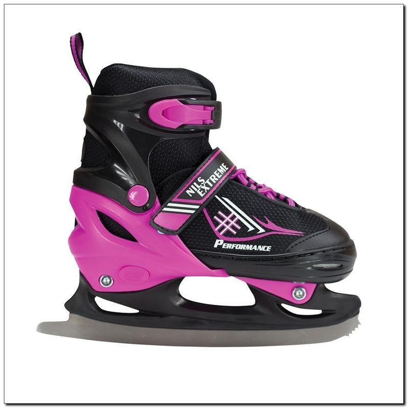 NILS Extreme Black / Blue Skates 34-37 (NF7104 A) Slidošanas un hokeja piederumi