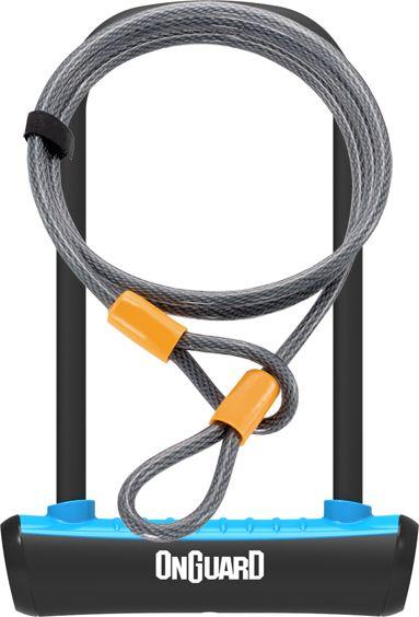 ONGUARD Zapiecie rowerowe U-Lock Neon niebieskie 10x1200 mm (8154BU) ONG-8154BU