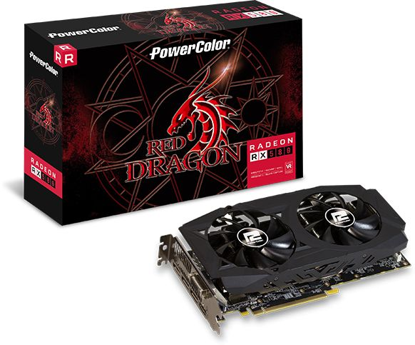 PowerColor Radeon RX 580 Red Dragon V2, 8192 MB GDDR5 video karte