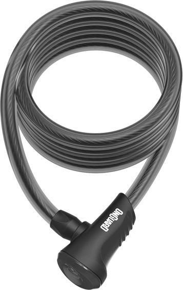 ONGUARD Zapiecie rowerowe Linka Neon czarne 12x1800 mm (8156BL) ONG-8156BL