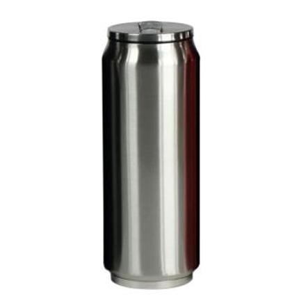 Yoko Design Isotherm Tin Can 500 ml, Shiny silver termoss