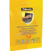 FELLOWES LAPTOP SCREEN WIPES 25PK UK EX tīrīšanas līdzeklis