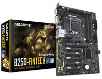 Gigabyte GA-B250-FinTech, DDR4, 12 Native PCIe Slots, 6 x SATA 6Gb/s, USB 3.1 pamatplate, mātesplate