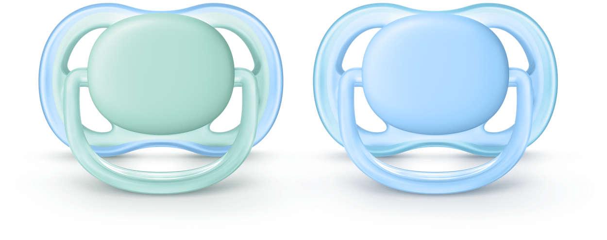 Philips Avent Ultra Air silikona māneklītis, 0-6 mēn., zēniem (2 gab.) SCF244/20 māneklītis, knupis