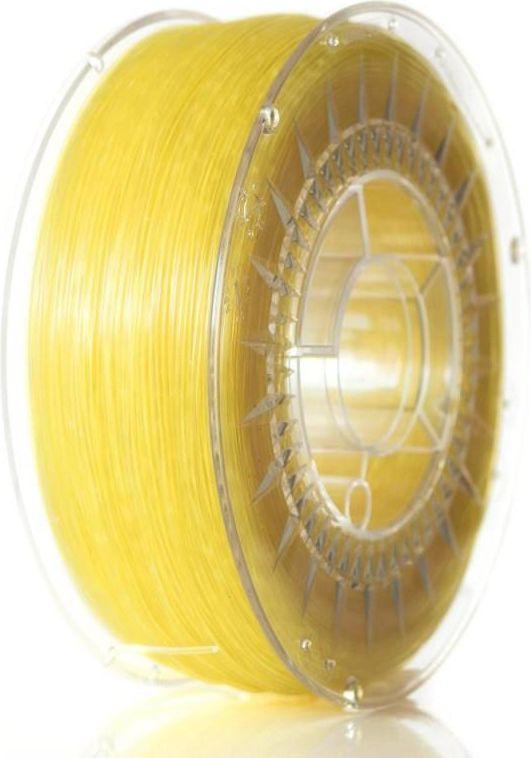 Filament DEVIL DESIGN / ABST / BRIGHT YELLOW TRANSPARENT / 1,75 mm / 1 kg. 3D printēšanas materiāls